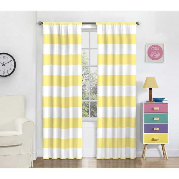 Eclipse Peabody Blackout Window Curtain Panel