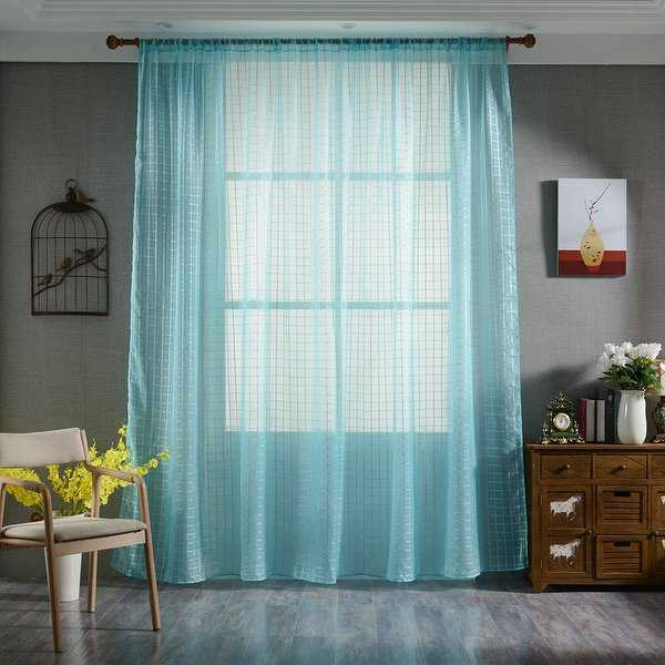 78.7' x 39.4' Sheer Curtains Voile Tulle Window Scarf Curtain Panels