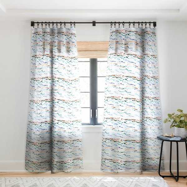 CayenaBlanca Beach Waves Single Panel Sheer Curtain - 50 X 84