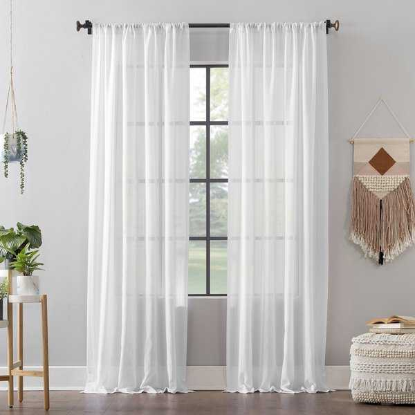 Clean Window™ Leno Weave Stripe Anti-Dust Curtain Panel