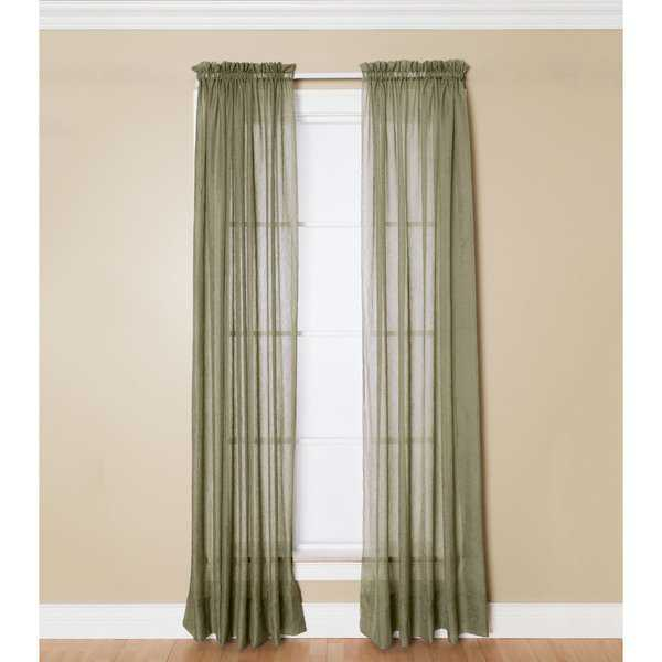 Miller Curtains Preston Sheer 108-Inch Rod Pocket Curtain Panel - 52 X 108