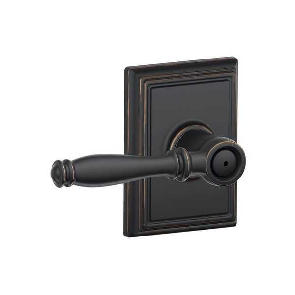 Schlage F40-BIR-ADD Birmingham Privacy Door Lever Set with Decorative Addison Trim - N/A