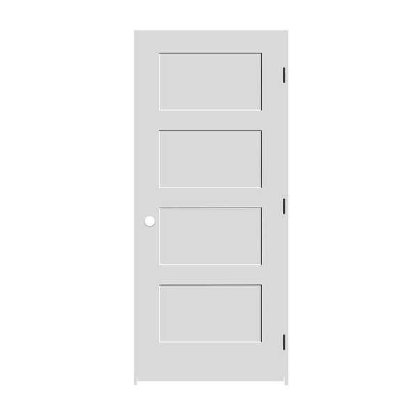 Trimlite 2268138-8444LH1D6916 26' by 80' Shaker 4-Panel Left Handed Interior Pre - Primed - N/A