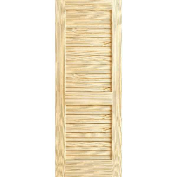 Frameport PLA-PD-L-8X2-2/3 Plantation 32' by 96' Louver/Louver Interior Passage Door - Unfinished