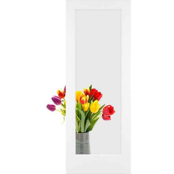 Frameport CGL-PD-1L-8X2 Clear Glass 24' by 96' 1 Lite Interior Passage Door - Primed - N/A