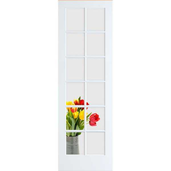 Frameport CGL-PD-12L-8X2 Clear Glass 24' by 96' 12 Lite Interior French Door - Primed - N/A