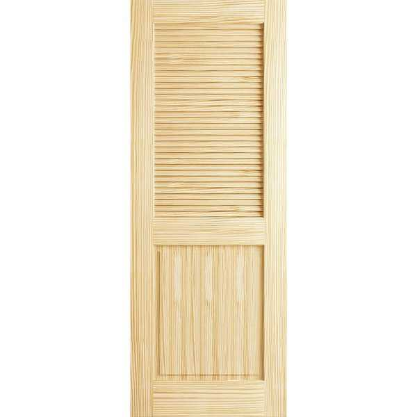 Frameport CLS-PD-DLP-6-2/3X2-1/3 Classic 28' by 80' Double Hip Louver/Panel Interior Passage Door - Unfinished