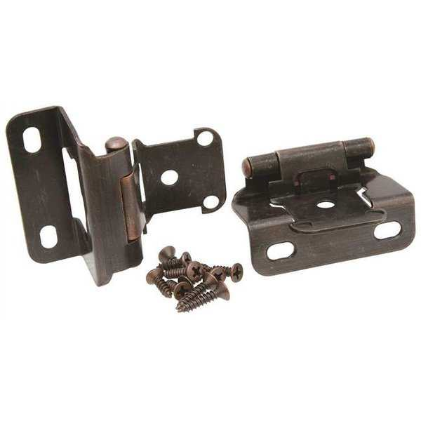 Self-Closing Cabinet Hinge 2-1/4 In. Oil Rubbed Bronze 10 Per