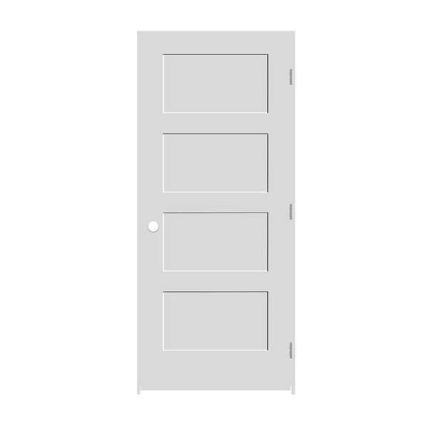 Trimlite 2468138-8444LH154916 28' by 80' Shaker 4-Panel Left Handed Interior Pre - Primed - N/A